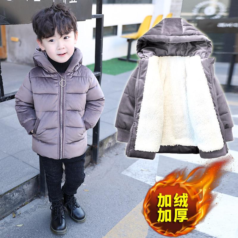 童装男童棉衣2019新款儿童冬装加绒加厚棉服小童韩版潮衣宝宝棉袄