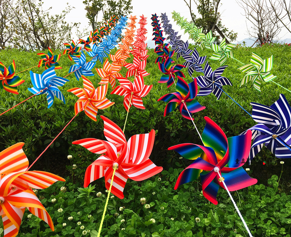 Colorful windmill string outdoor hanging kindergarten decorative windmill festival venue arrangement plastic traditional toys