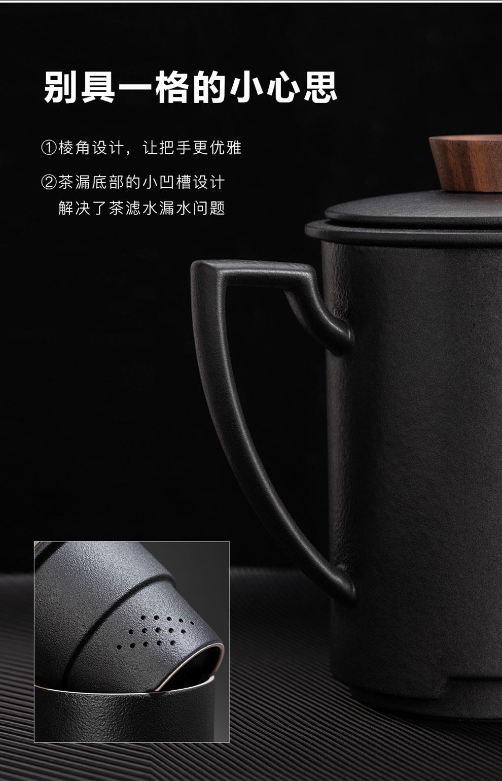 Jingdezhen ceramic tea set) grind arenaceous enamel high - end business office with household gift box set