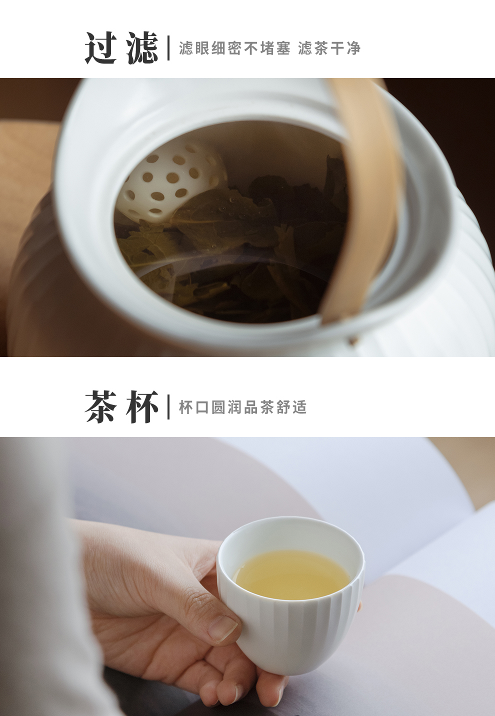 Jingdezhen flagship store of ceramic tea set manually set home sitting room is contracted teapot teacup Chinese tea