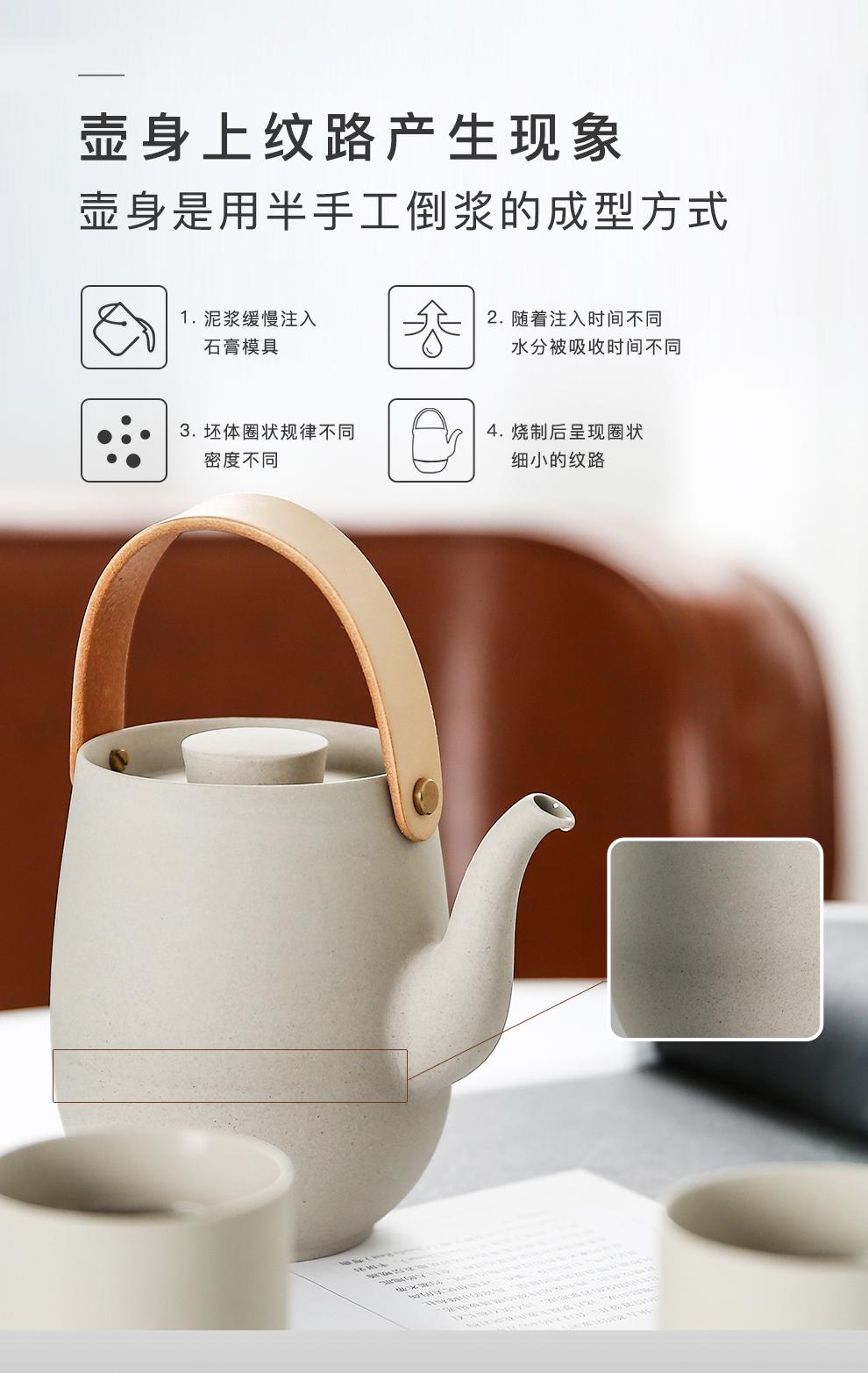 Jingdezhen flagship store ceramic teapot teacup kung fu tea set girder is suing portable travel package box