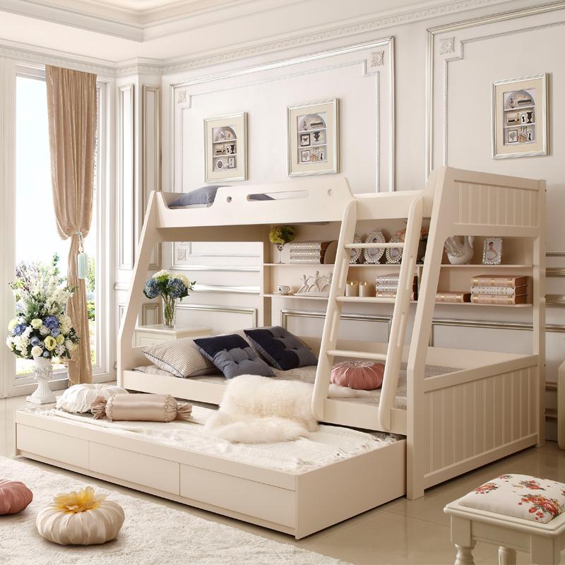 公主床上下床男孩床双层床下铺女孩高低床上儿童多功能v公主1.5米