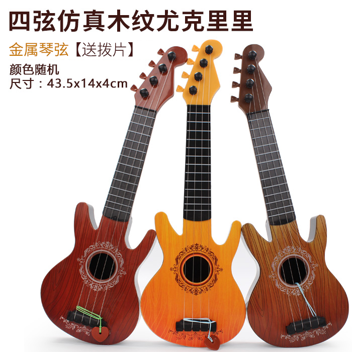 HORNS WOOD GRAIN UKULELE 44CM COLOR RANDOM DELIVERY