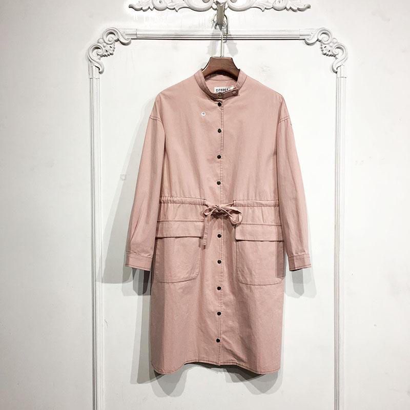 Eve Series * Tủ rút tiền D78861 Áo khoác gió thời trang thương hiệu nữ giảm giá - Trench Coat