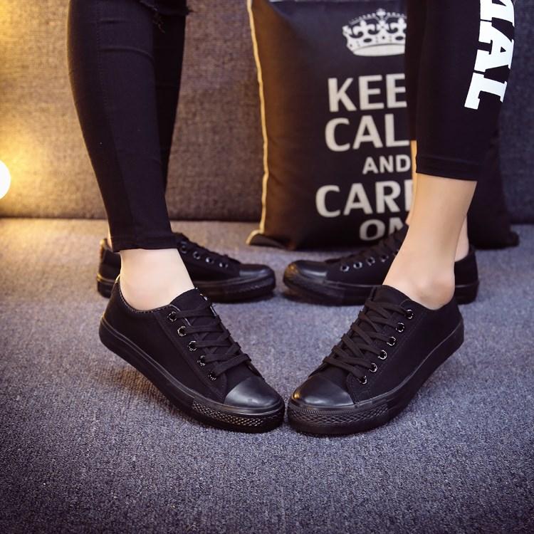 2015帆布经典白色鞋女学生新款韩版低帮板鞋休闲鞋春秋情侣布鞋鞋