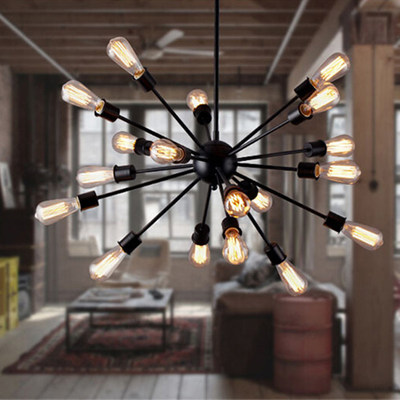 Industrial style chandelier loft retro internet cafe chandelier hall living room dining room modern minimalist branch type very home lighting