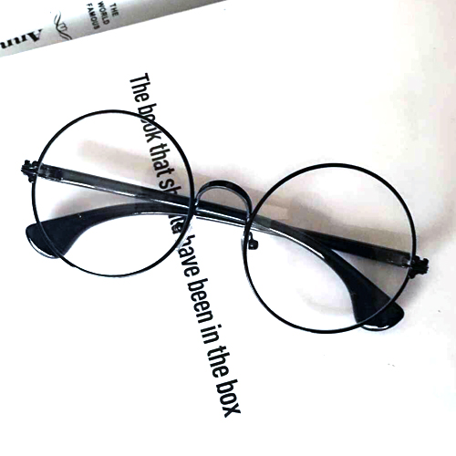 Retro glasses frame trend round flat mirror female models large ...