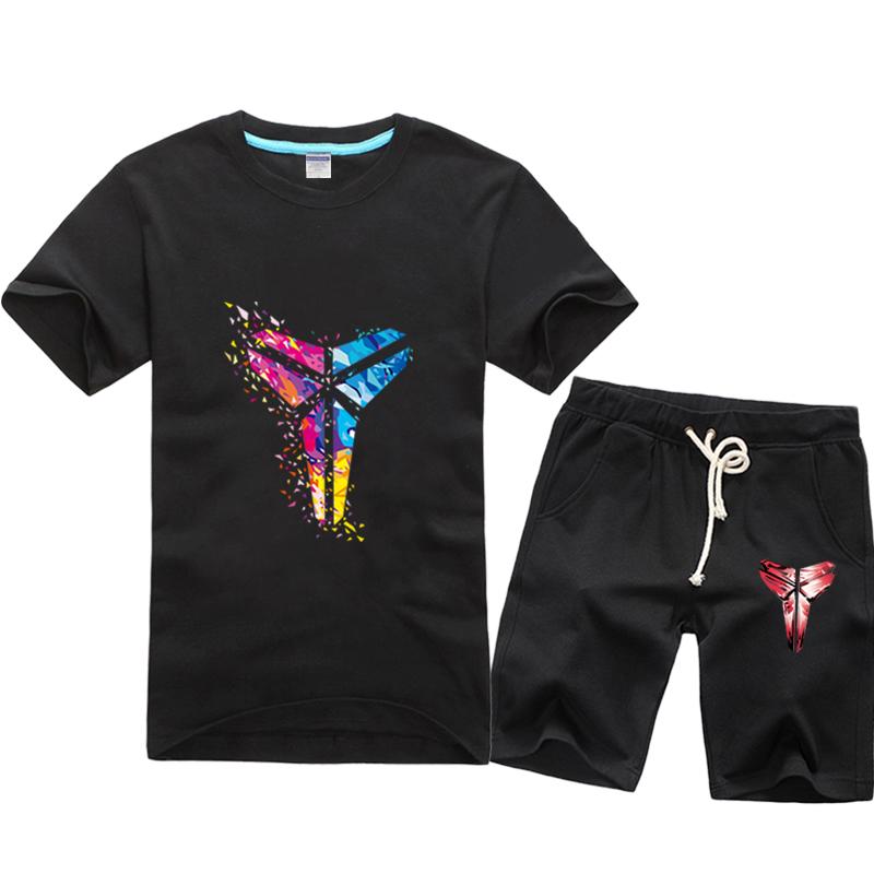 轩尧耐克泰官网正品黑曼巴科比夏装男士t恤短袖运动套装夏季青少