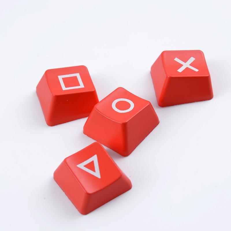 abs个性机械高度透光键帽单r1红色psp键帽键盘ps4方向键上下左右