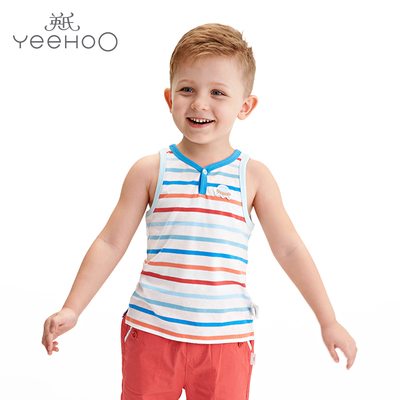 British boy's tank top 2017 summer children's sleeveless t-shirt male baby cotton round neck shirt 172299