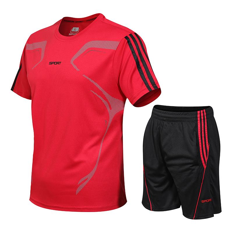 运动套装男夏季短袖宽松t恤篮球装备训练服晨跑健身跑步速干衣服
