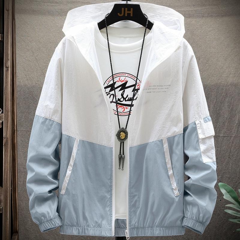 夏季超薄防晒衣服男士外套2020新款潮流薄款休闲男装夏工装夹克