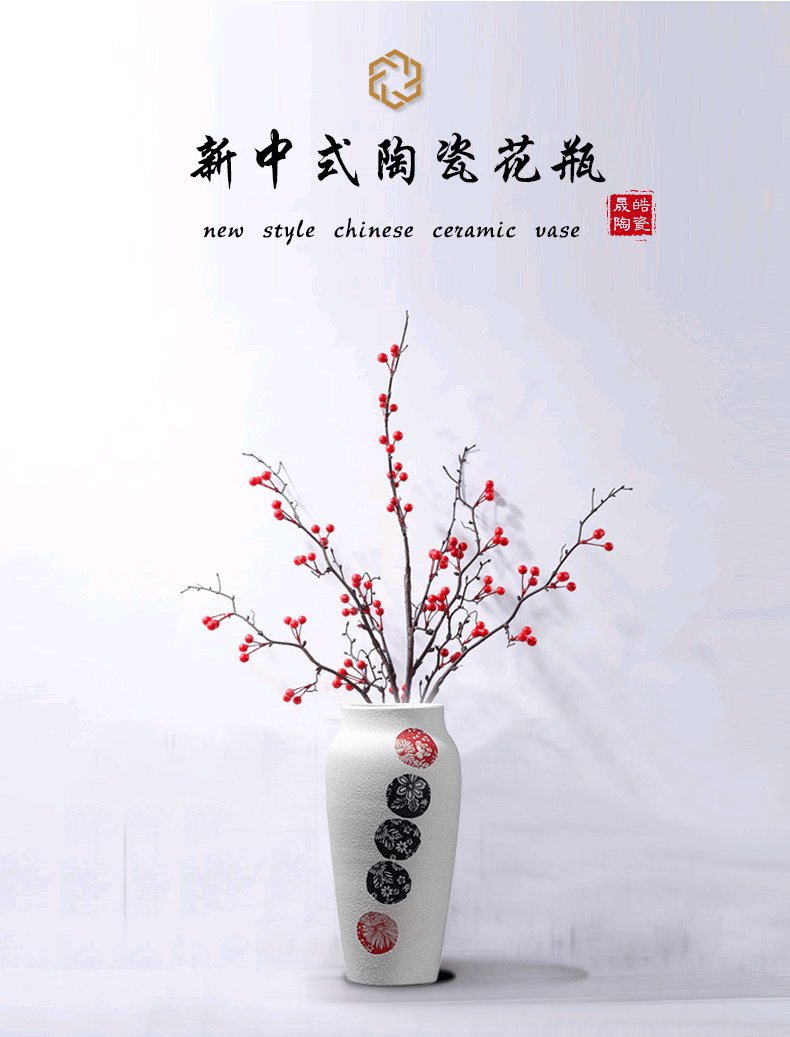 Jingdezhen ceramics are dried flowers sitting room pottery flower arranging device home decoration vase home furnishing articles