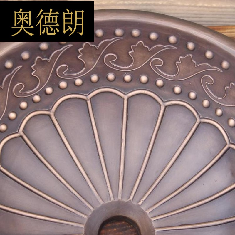 European retro bronze casting washbasin Bronze bathroom washbasin Bronze kitchen washbasin Bronze cast