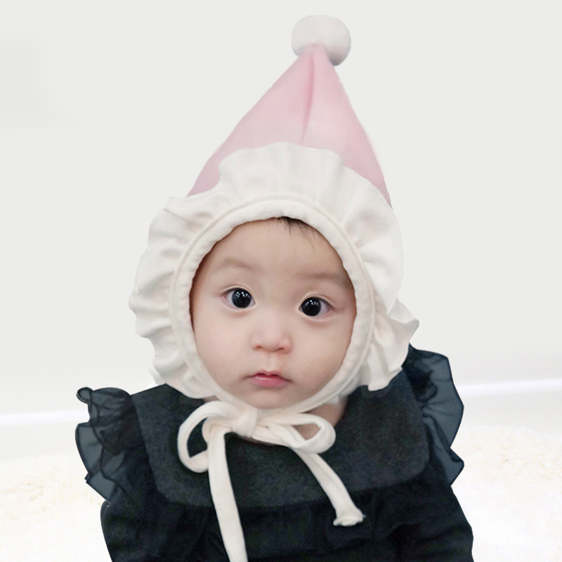924b4ea357e South Korea imported baby hat autumn and winter men and women baby earmuffs  cap newborn cap cap cap lace hat