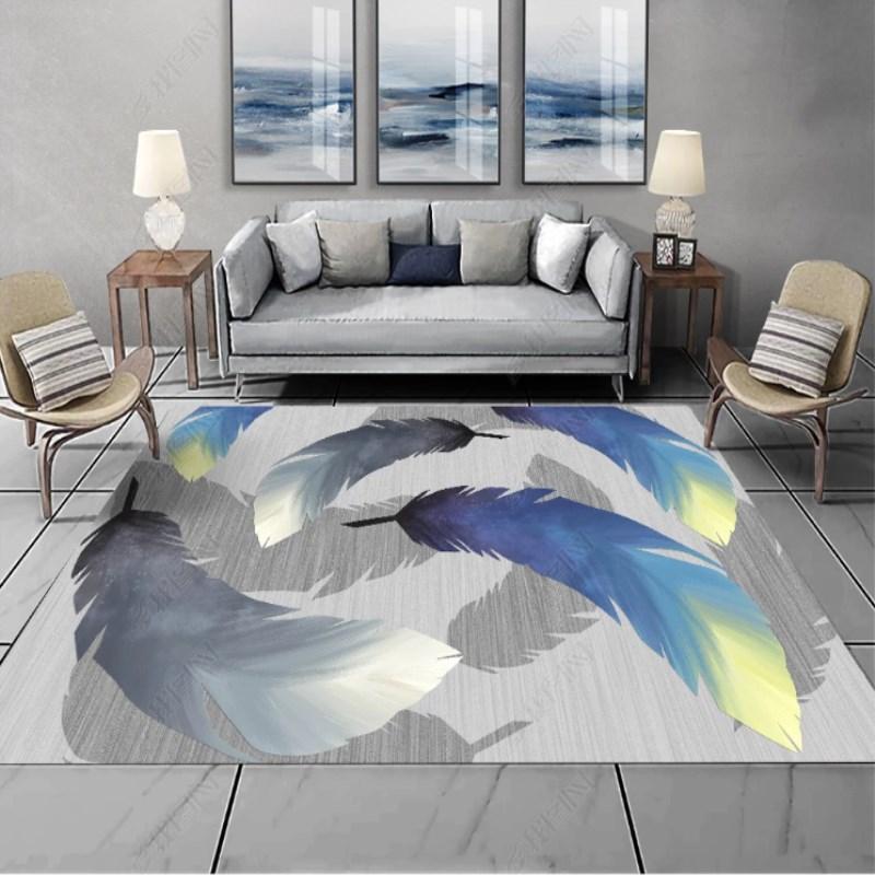 ins北欧风3d大面家用茶几卧室客厅现代简约地毯床边垫沙发积满铺