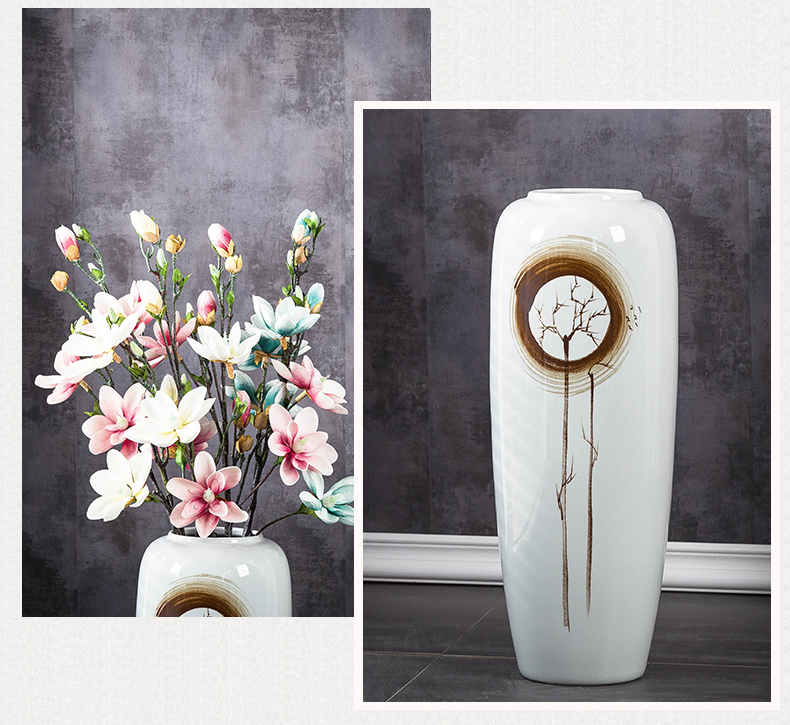 Jingdezhen ceramic vase landing large Chinese style is I and contracted sitting room porch TV ark, flower arranging soft furnishing articles