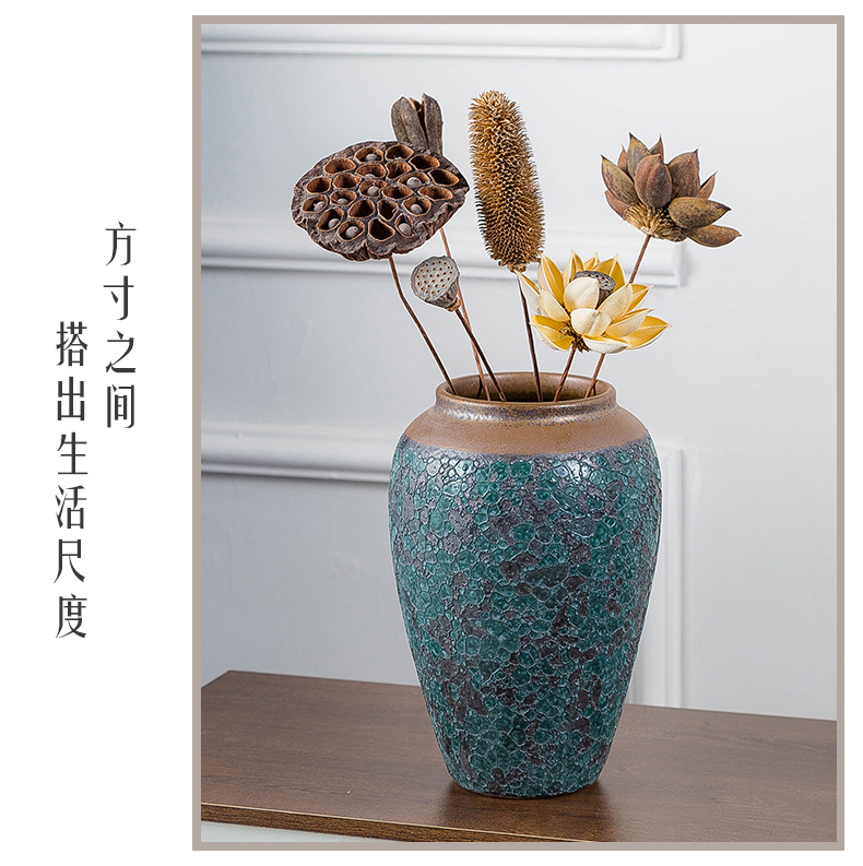 Ancient ceramics vase dried flower vase planting of I and contracted sitting room adornment wine furnishing articles creative flower arranging