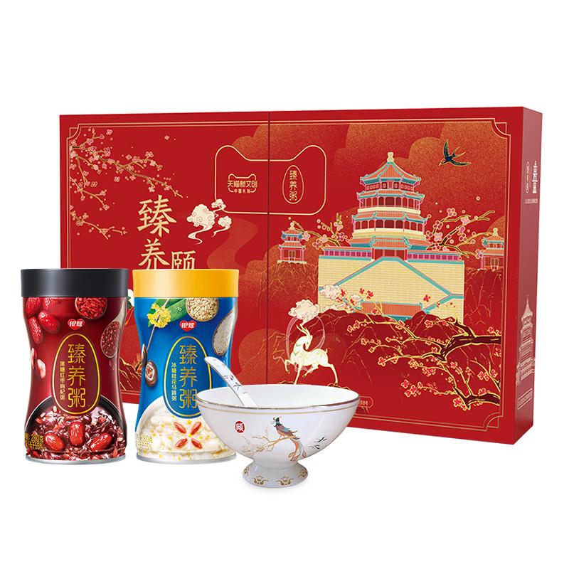 银鹭 臻养粥 颐和园文创礼盒款 含限量版碗勺 天猫优惠券折后¥78包邮(¥128-50)