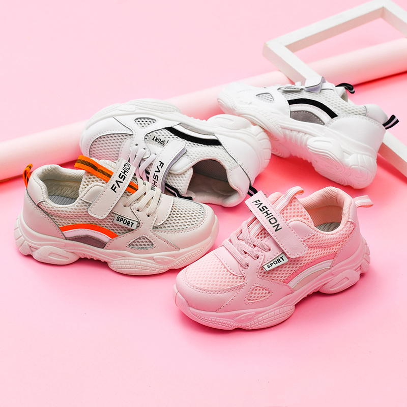儿童运动鞋2019新款春夏款男童透气镂空女童休闲网面防滑跑鞋单鞋