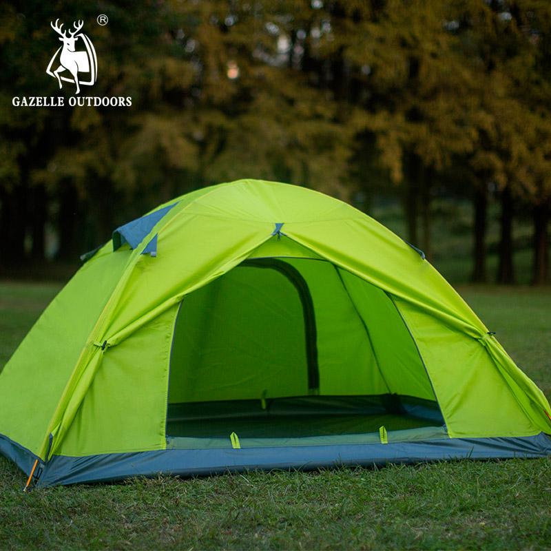[Direct] Hui Antelope Outdoor Double Double Cắm trại Nhôm Cực Cắm trại Chống nắng Cắm trại Cặp đôi - Lều / mái hiên / phụ kiện lều