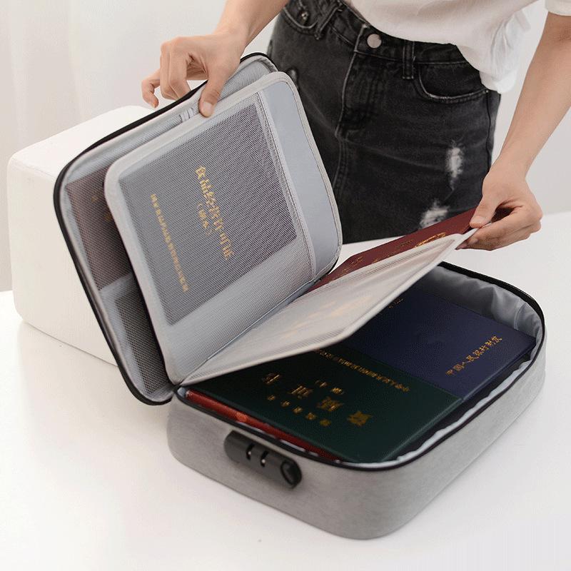 Túi đựng tài liệu dung tích lớn mới, túi đựng tài liệu đa năng có khóa, túi đựng tài liệu mẹ và con một thế hệ - Túi thông tin xác thực