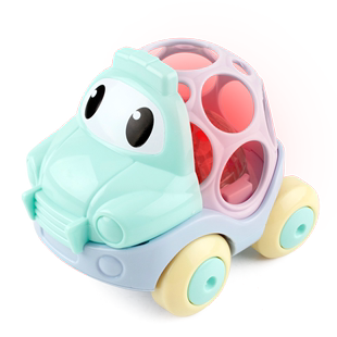 Baby toy car girl child car toy boy resistance to fall large soft cartoon version of the pull back inertia car