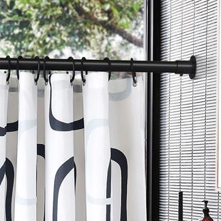 窗帘浴帘套装烤漆不锈钢杆