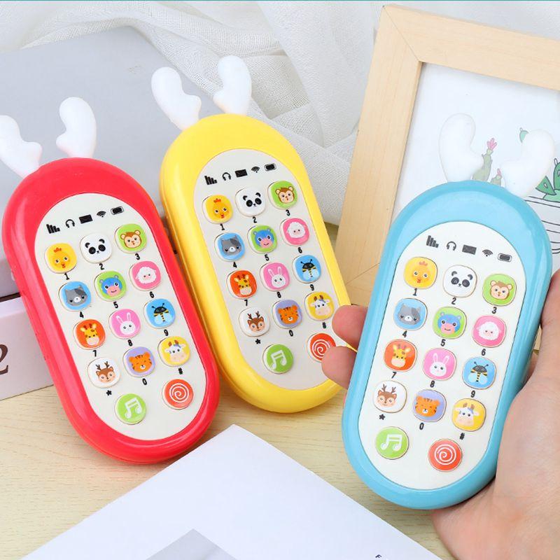 儿童启蒙音乐手机玩具早教可咬仿真电话