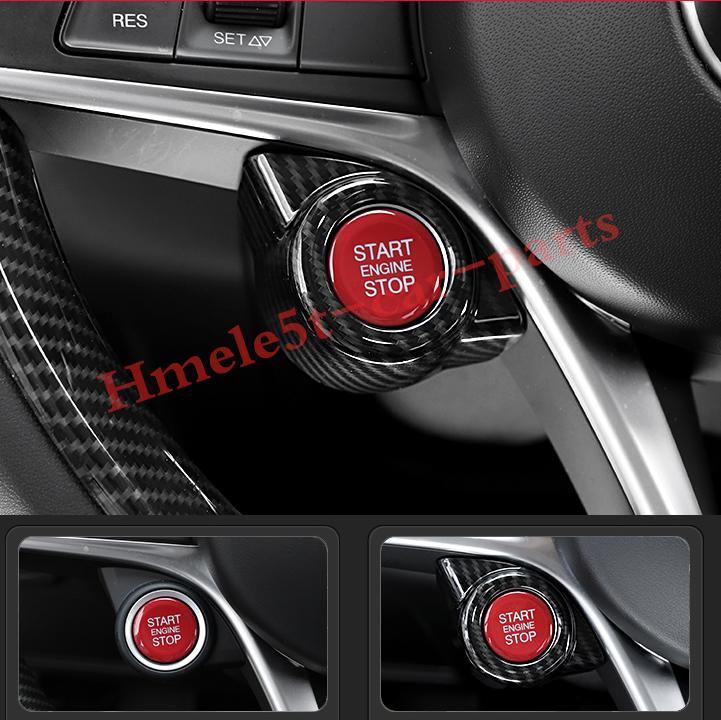 For Alfa Romeo Giulia 2017-2019 Carbon Fiber Engine Start