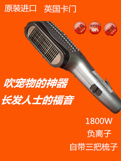 Pet hairdryer UK Carmen 1800W negative ion hair dryer with comb function hot and cold air