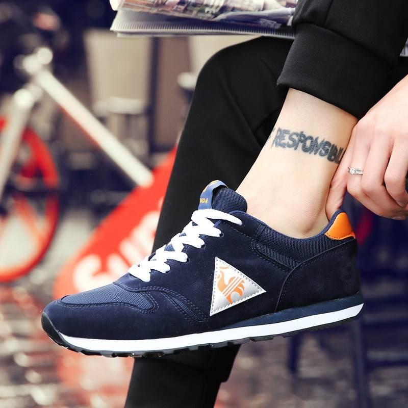 新款春夏新款乐卡克板鞋法国大男鞋学生运动休闲跑步鞋公鸡耐磨金