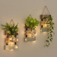 [创意壁挂水培植物花瓶悬挂式房间客厅墙] верх [墙面墙壁背景装饰小挂件]