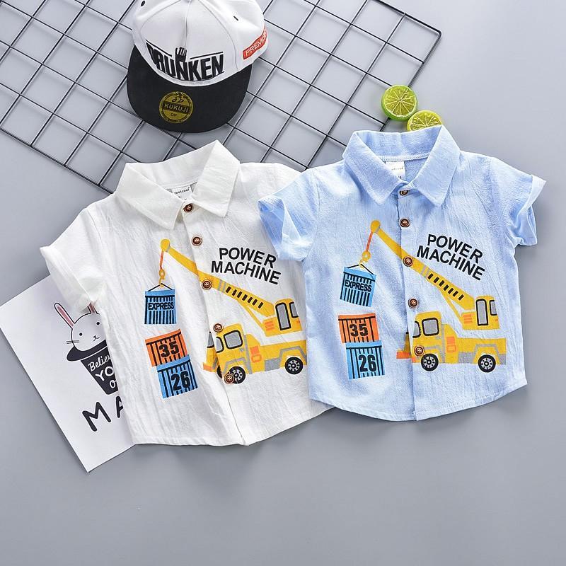 1歲半男寶寶夏裝男童春夏外套2周短袖t兒童3薄款4小孩子衣服5襯衫