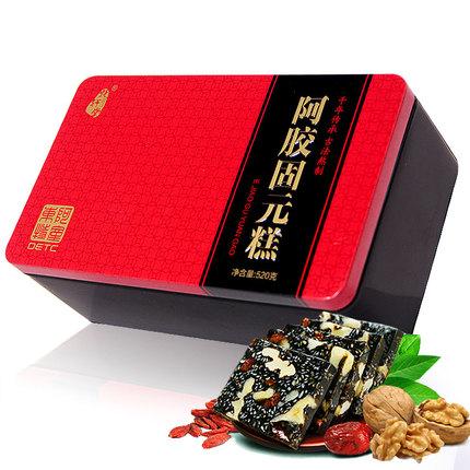 东阿特产 即食铁盒阿胶糕固元糕520g 山东东阿红枣枸杞阿胶固元膏