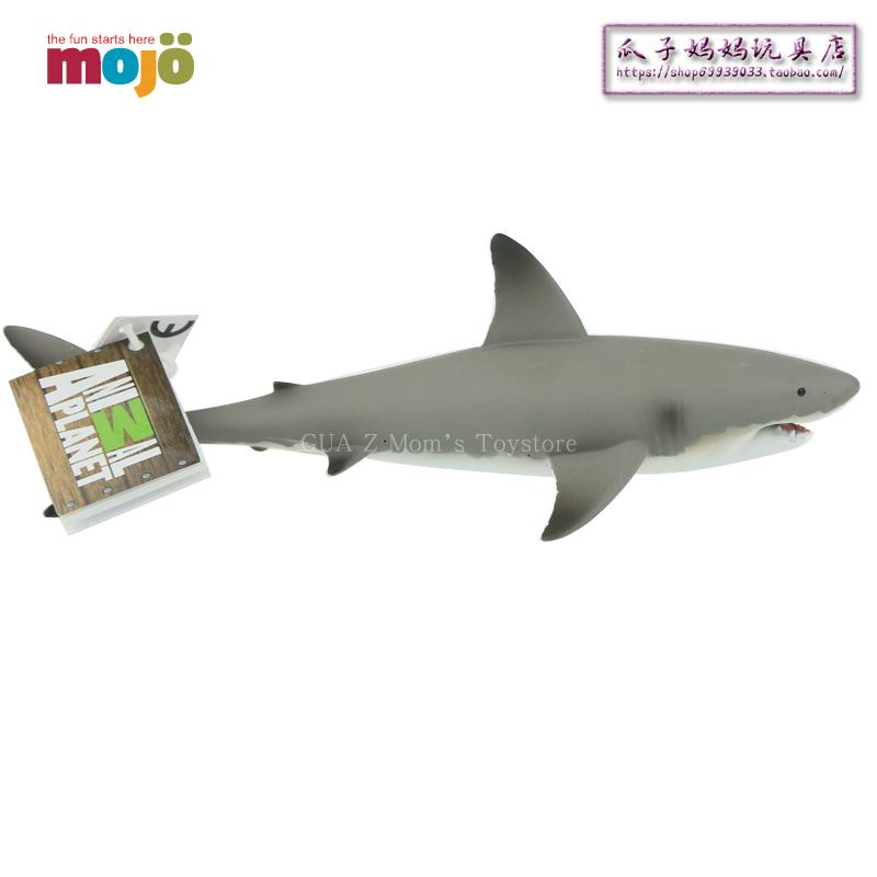 British MOJO marine wildlife simulation model toy great white shark