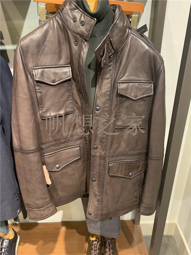帆想之家西班牙正品代购 MD 男装配口袋纳帕皮外套3314243