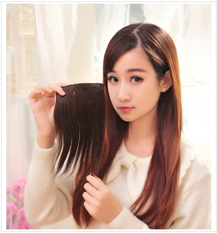 Pad Hair Piece Wig Female Inner Root Fluffy Invisible Trace On Both