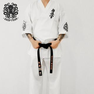 Кимоно,  Пустой рука дорога одежда обучение одежда ребенок пустой рука дорога одежда взрослый мужчина женщина тренер одежда  DF поляк вакуум рука дорога одежда, цена 5451 руб