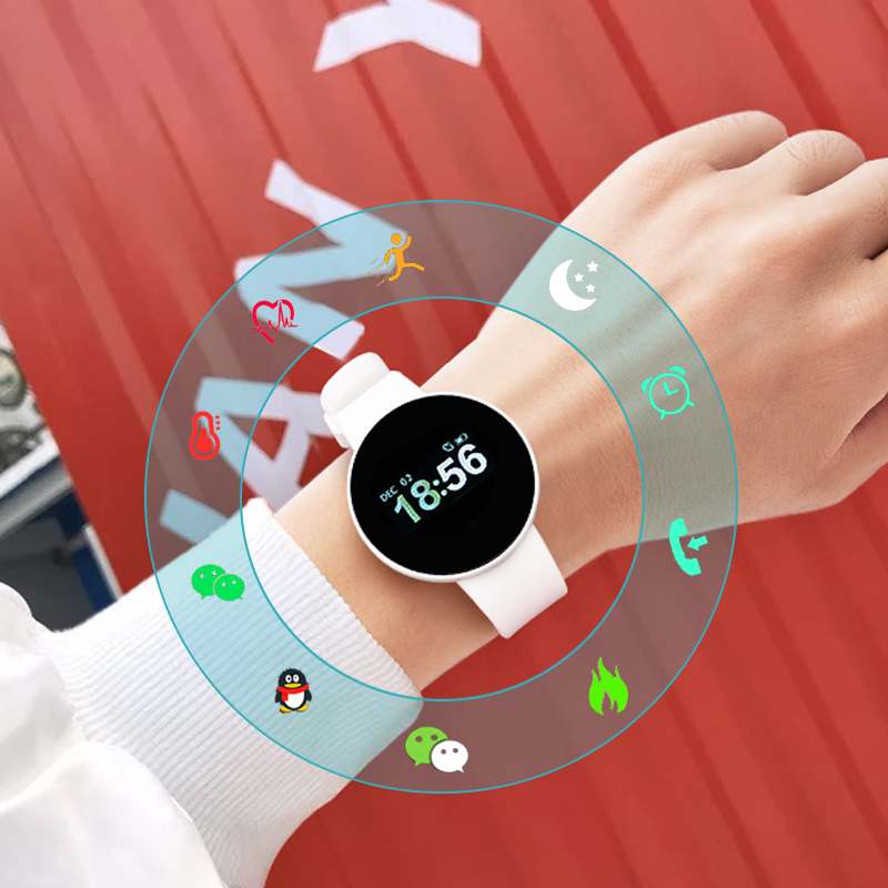 Color Screen White [all Functions Of The Normal Version + Heart Rate, Blood Pressure And Oxygen Monitoring + Timing And Other Functions]