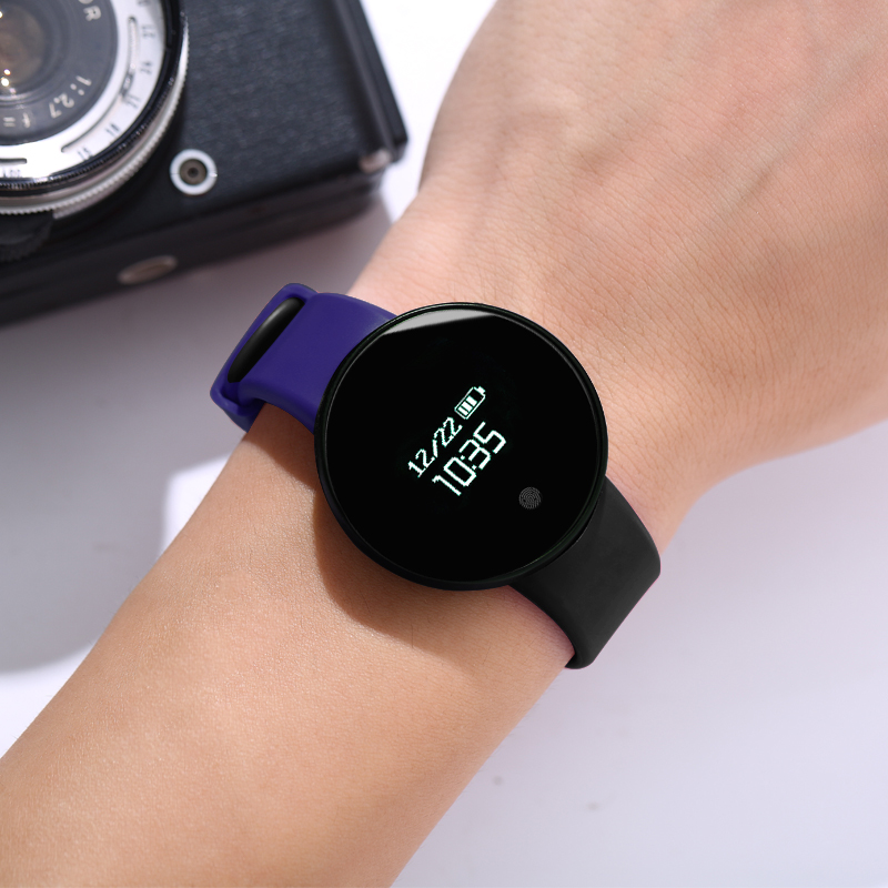 Blue black [waterproof + call reminder + sports step + vibration alarm + sleep monitoring + remote control camera]