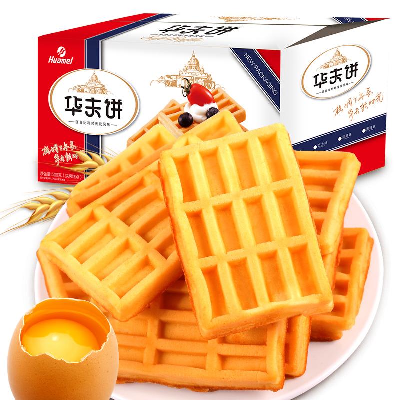 【华美】蛋香浓郁华夫饼800g