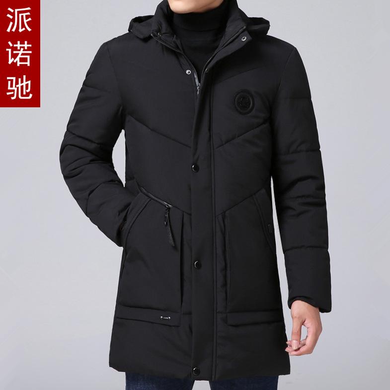 冬季中年男士外套加厚保暖羽绒棉服爸爸装老人棉衣中长款棉袄大衣