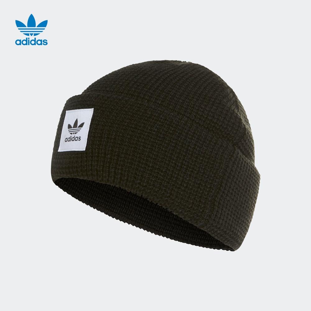 阿迪达斯官网adidas三叶草WAFFLECUFFKNI男女休闲帽ED8033