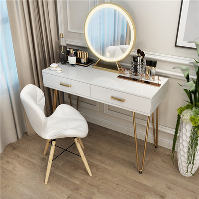 Nordic light luxury network red with the INS wind dressing table small apartment girl Bedroom modern minimalist cosmetic table 60cm