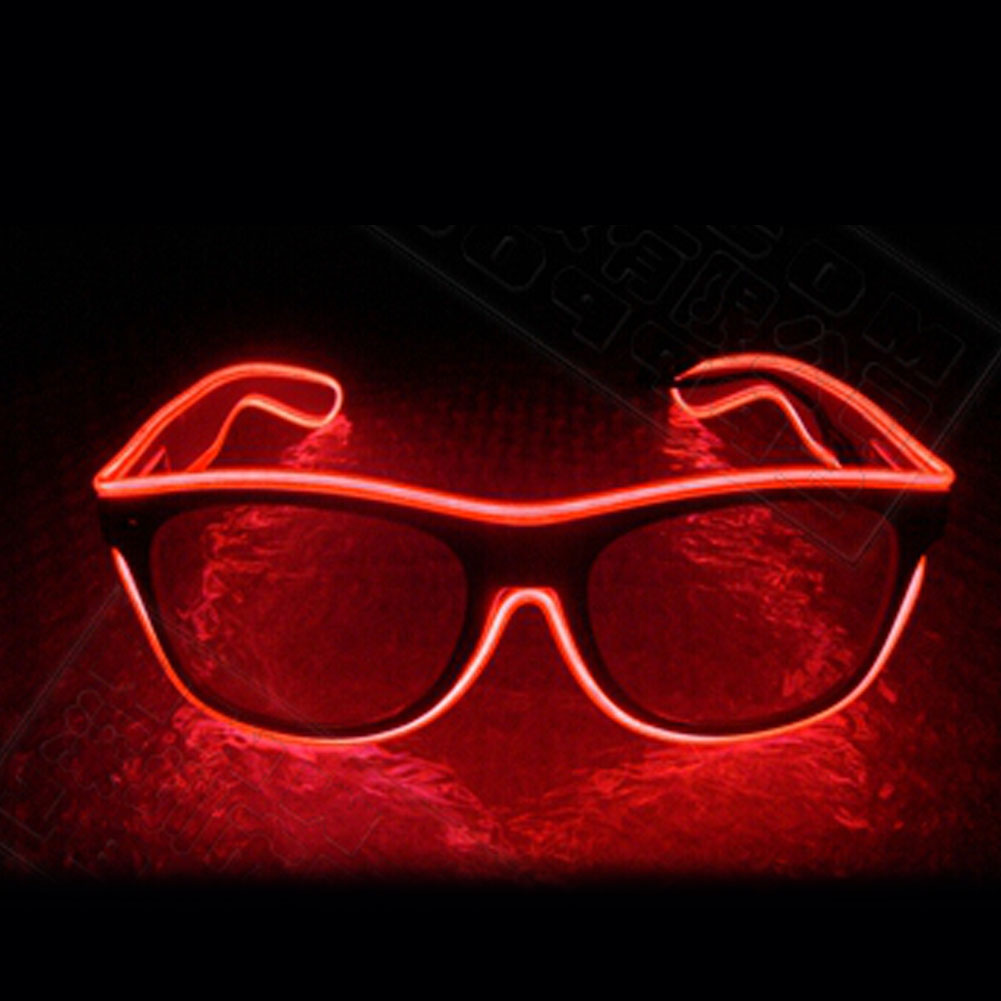 EL Wire Ultimate Rave Diffraction Neon Glasses LED Light Up ...