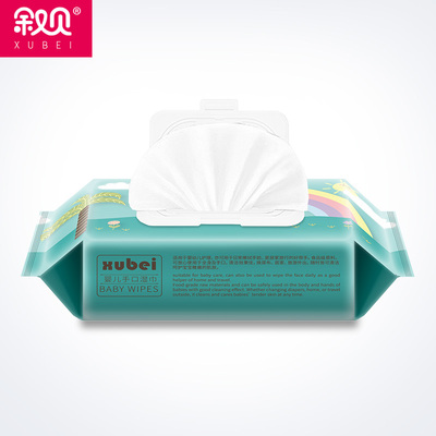 叙贝婴儿湿巾纸新生宝宝手口专用儿童湿巾80抽4包大包装 特价家用
