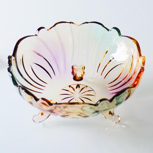 欧式水晶玻璃水果盘客厅创意沙拉盘茶几