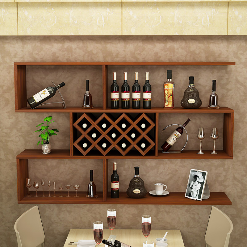 Wine cabinet simple wall cabinet wine rack wall-mounted wine cabinet restaurant wall decoration hanging cabinet ... & Wine cabinet simple wall cabinet wine rack wall-mounted wine cabinet ...
