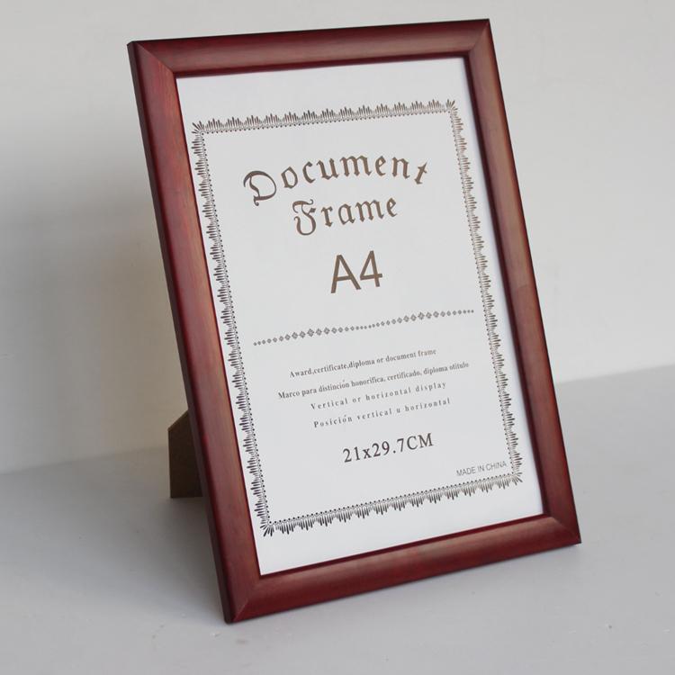 实木A4证书框摆台奖状框相框创意挂墙a3荣誉画框定做营业执照框